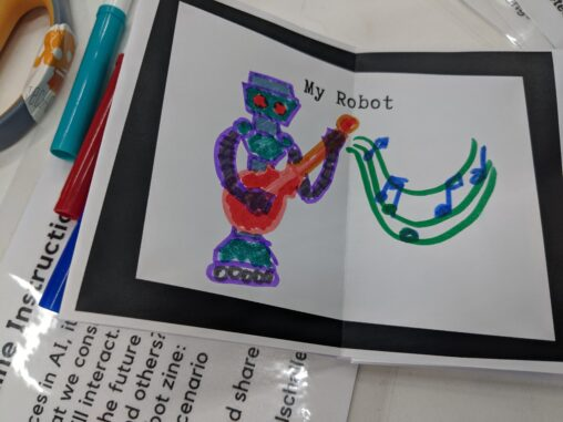 robot zine example
