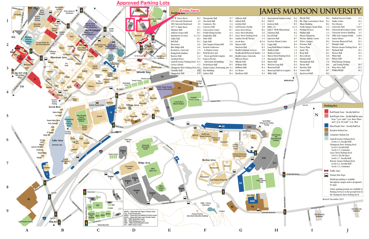 Jmu Parking Map Brainstorm 2016: What Inspires Us!
