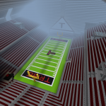 Stadium constructed in Minecraft