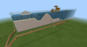 ocean world constructed in Minecraft