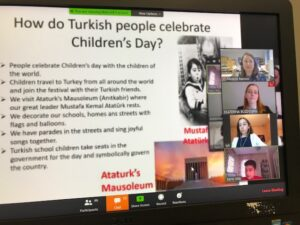 slide about Turkish people celebrating children's day