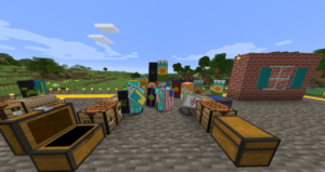 Banner making in Minecraft