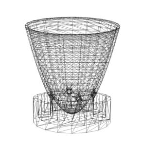 illustration of a 3D model of a planter